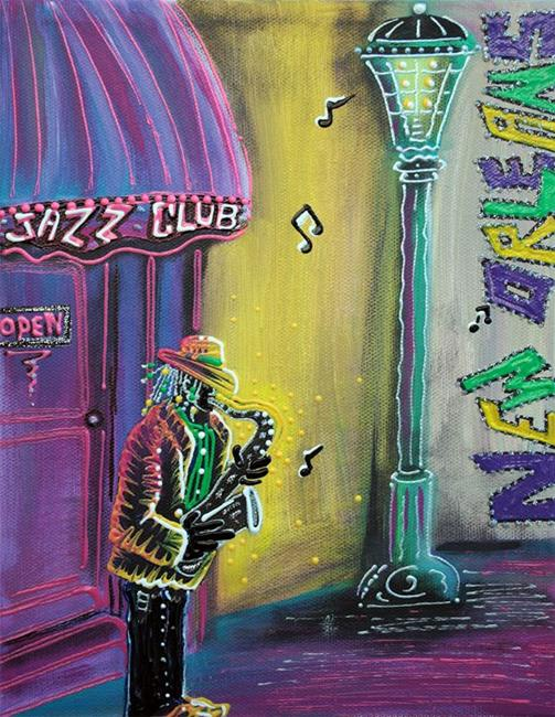 Art: New Orleans Jazz Fest by Artist Laura Barbosa