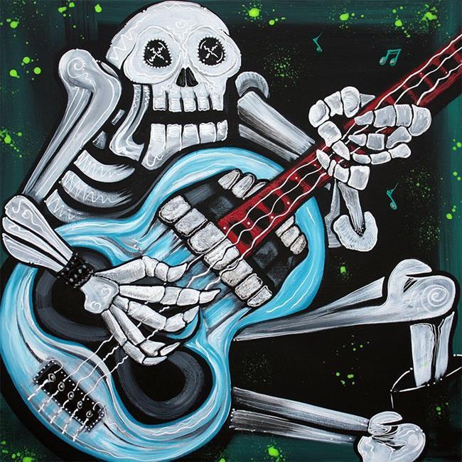 Art: Skull Rock by Artist Laura Barbosa