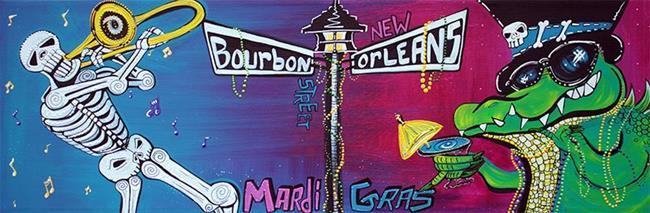 Art: Mardi Gras Celebration by Artist Laura Barbosa