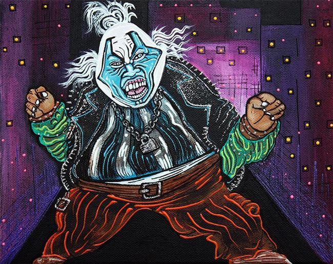 Art: Blue Faced Clown by Artist Laura Barbosa