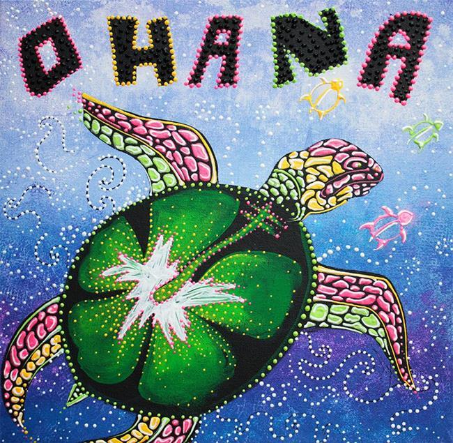 Art: Ohana Means Family by Artist Laura Barbosa