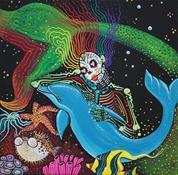 Art: Rainbow Mermaid by Artist Laura Barbosa