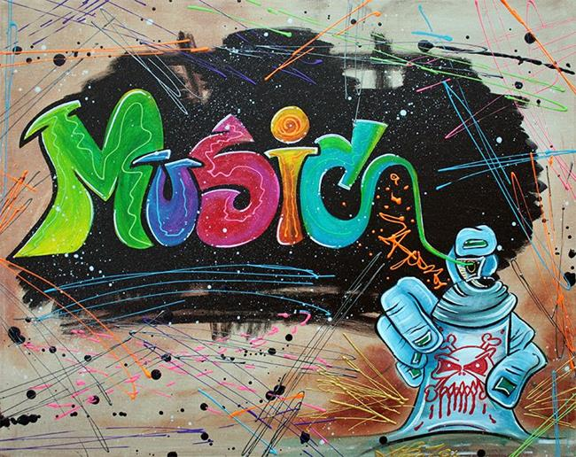 Art: Street Music by Artist Laura Barbosa
