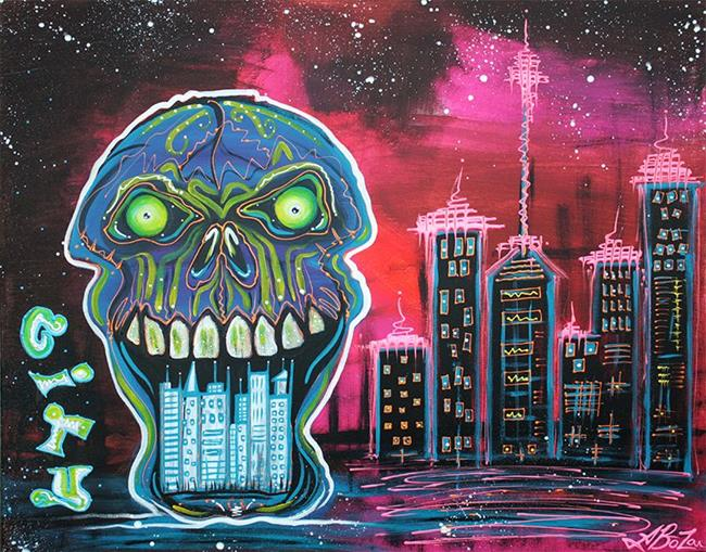 Art: City of Strange by Artist Laura Barbosa