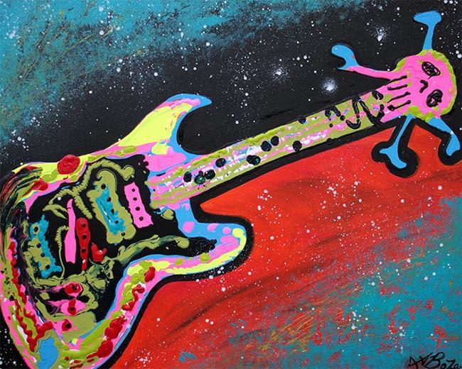 Art: Space Guitar by Artist Laura Barbosa