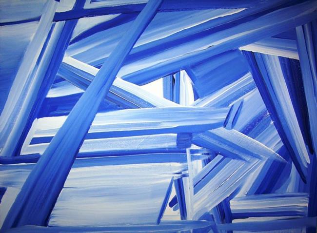 Art: Blue Construction by Artist Gallery Elite