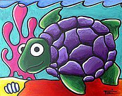 Art: Sea Turtle by Artist Tori Siegel