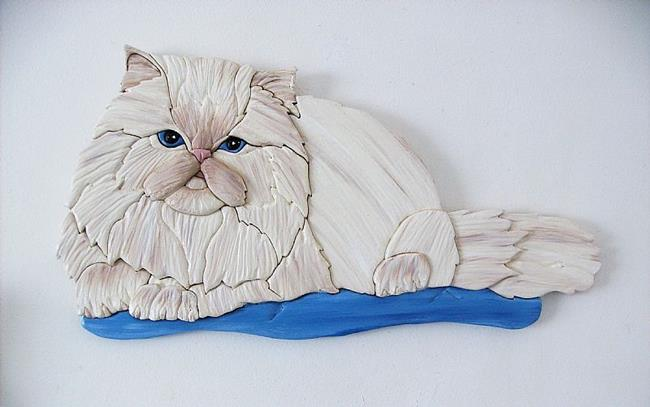 Art: Persian Cat by Artist Gina Stern