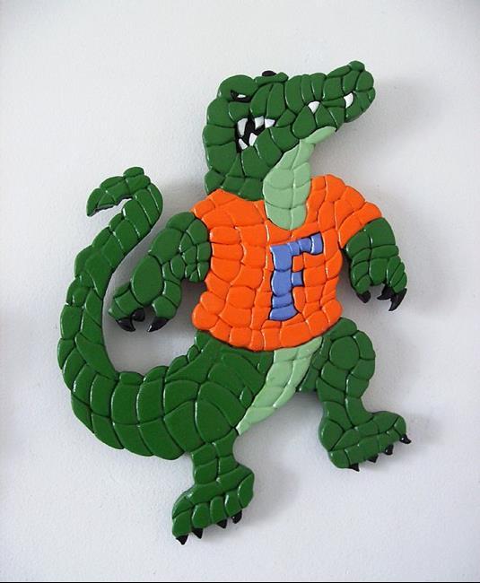 Art: Florida Gator by Artist Gina Stern