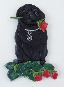 Detail Image for art PUG, AND ROSES..