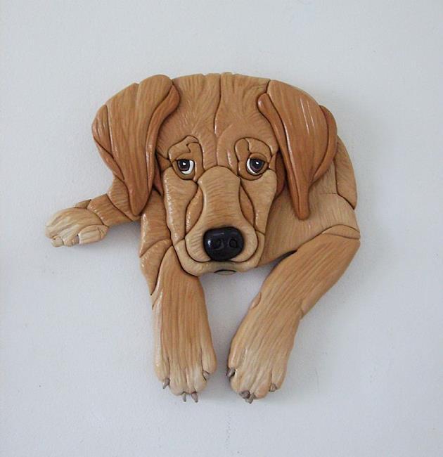 Art: Lab Puppy Dog by Artist Gina Stern