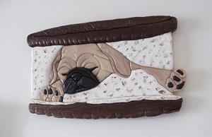 Detail Image for art Sleepy Pug Puppy Oreo Cookie