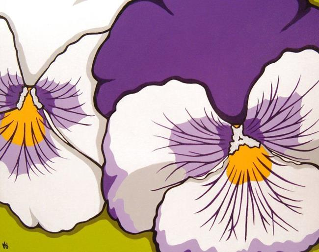 Art: Paternal Pansies by Artist Kris Jean