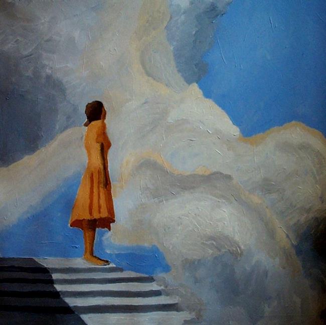 Art: On the highest step by Artist Mats Eriksson