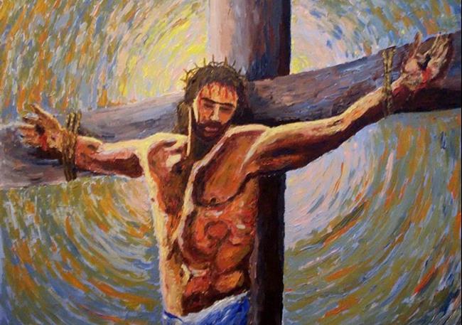 Art: The sacrifice (sold) by Artist Mats Eriksson