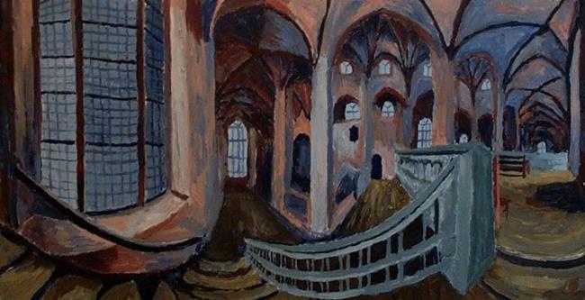Art: Inside the church by Artist Mats Eriksson