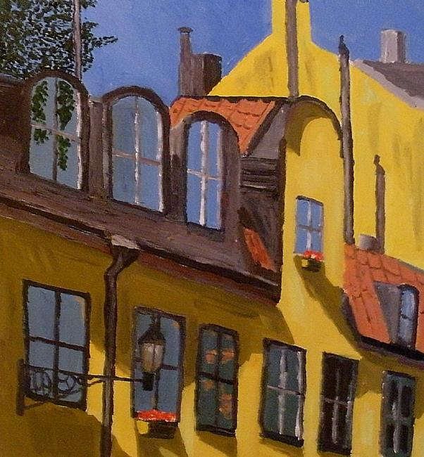 Art: House front by Artist Mats Eriksson