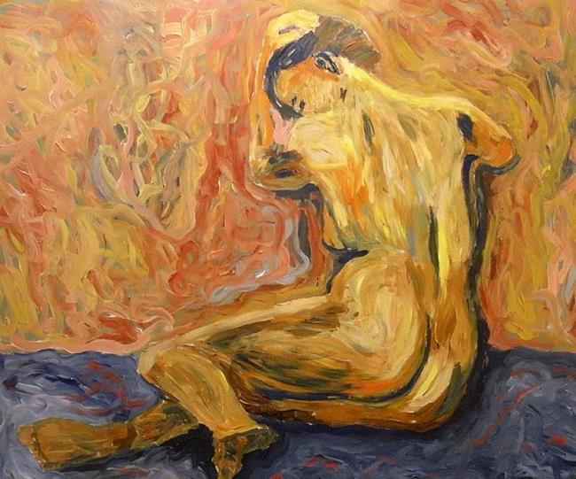 Art: A naked woman by Artist Mats Eriksson