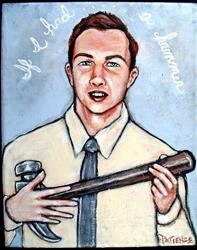 Art: If I Had a Hammer....: Pete Seeger Tribute Portrait by Artist Patience