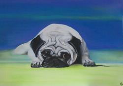 Art: Pug Dog by Artist Laura Barbosa