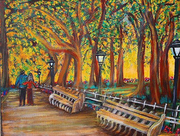 Art: Central Park by Artist Laura Barbosa