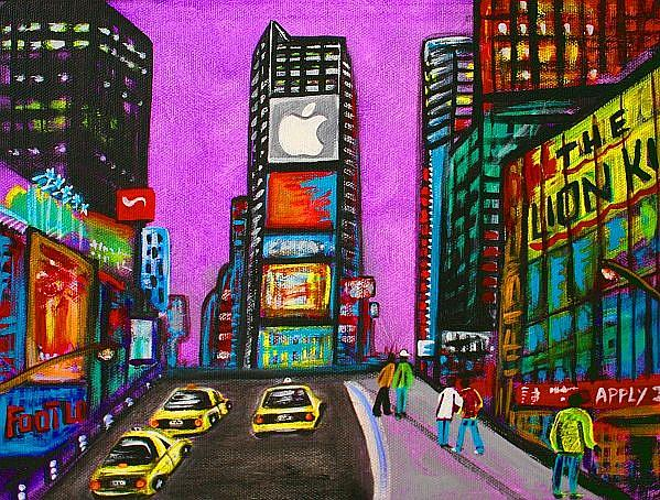 Art: Times Square by Artist Laura Barbosa