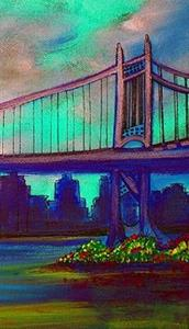 Detail Image for art Triborough Bridge From Queens