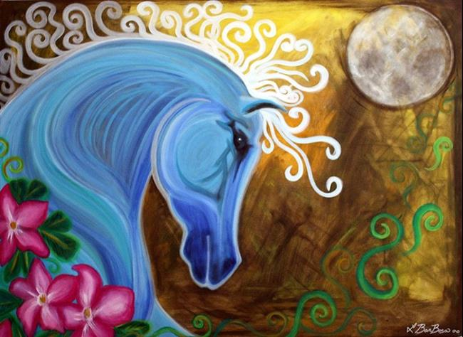 Art: Moon Spirit by Artist Laura Barbosa