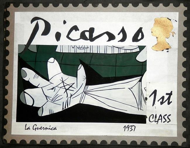 Art: stamp 2 by Artist Jane Gould