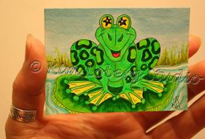 Detail Image for art Retro Frog