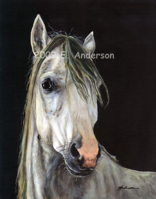 Art: Horse by Artist paintedbyevie