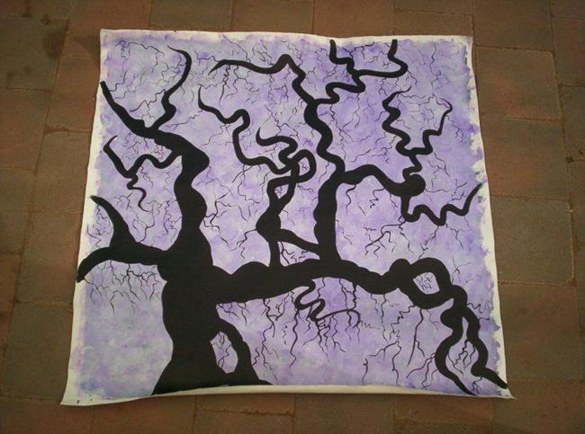 Art: lightning tree (sold) by Artist Gypsy {Ani } T.  Draven