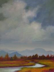 Art: October Valley by Artist Christine E. S. Code ~CES~