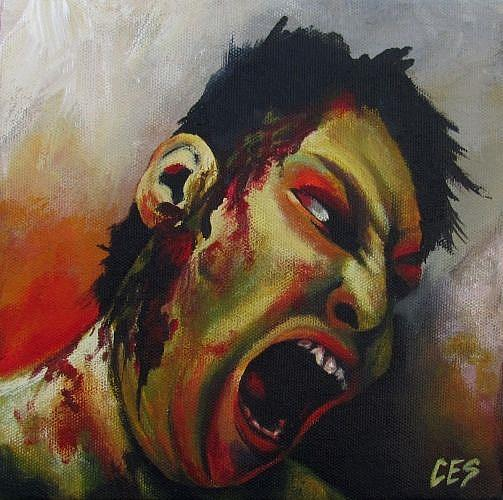 Art: Anonymous Zombie by Artist Christine E. S. Code ~CES~