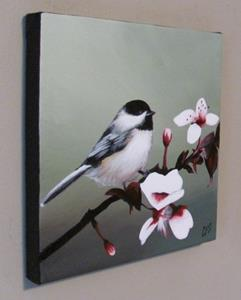 Detail Image for art Chickadee and Blossoms