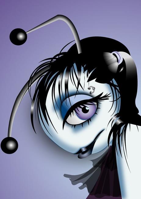 Art: DocWorks Designs Gothic Lady Bugs (Jane) by Artist Martha Di Giovanni