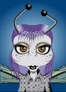 Detail Image for art DocWorks Designs Gothic Lady Bugs (Jane)