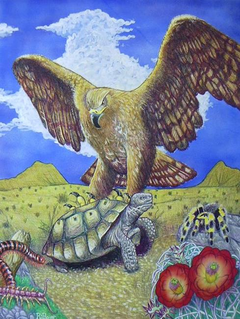 Art: The Tortoise and The Eagle-Aesop's Fable by Artist Robert Thomas Robie