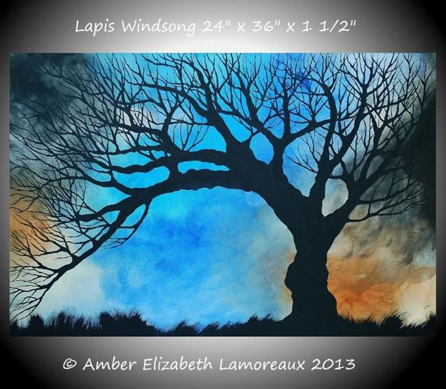 Art: Lapis Windsong Limited Edition Print (01/50) (sold) by Artist Amber Elizabeth Lamoreaux