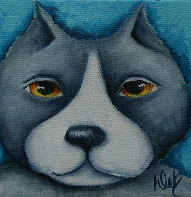 Art: Pit Bull II by Artist Deb Harvey