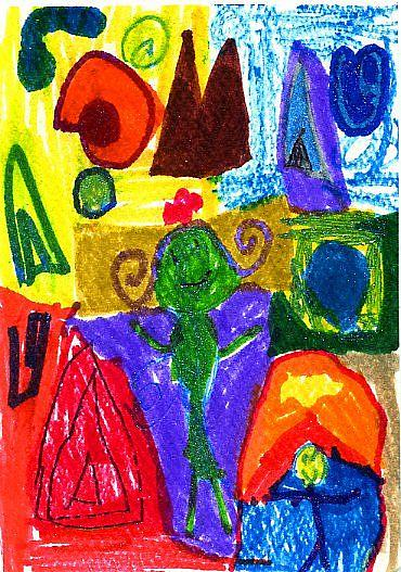Art: Land of Joy by Artist Christine Wasankari