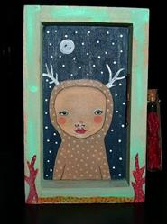 Art: Curious Daphne-Sold by Artist Sherry Key