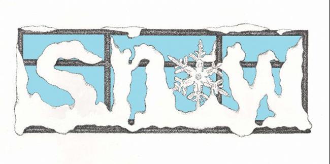 Art: Snow 2 ~ Blue Sky Version by Artist Paula M Parker