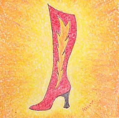 Art: Boot by Artist Melissa Morton