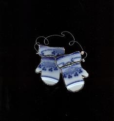 Art: Grindley Lorne Pattern Mitten Ornament by Artist pamela jean lacasse