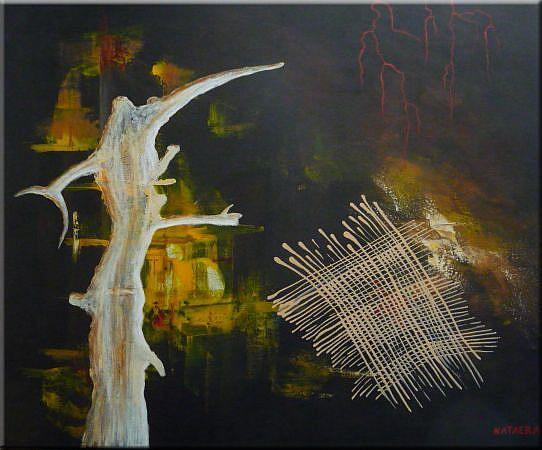 Art: ORIGINAL ABSTRACT PAINTING by Artist Nataera