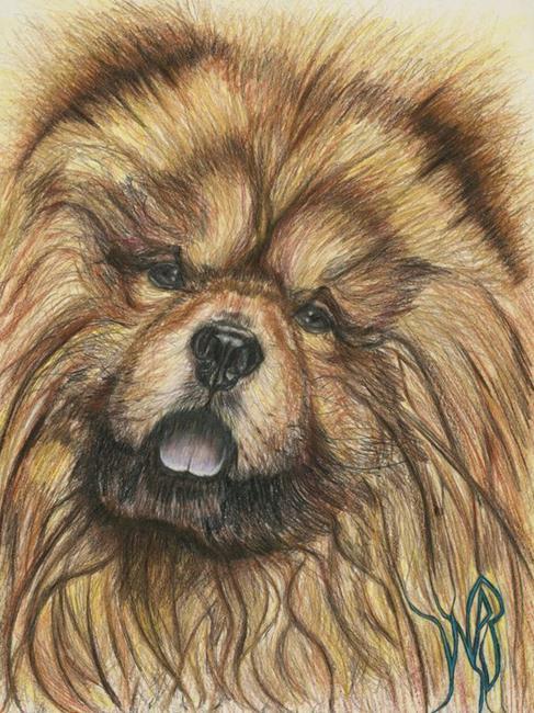 Art: Chow-Dog. by Artist William Powell Brukner