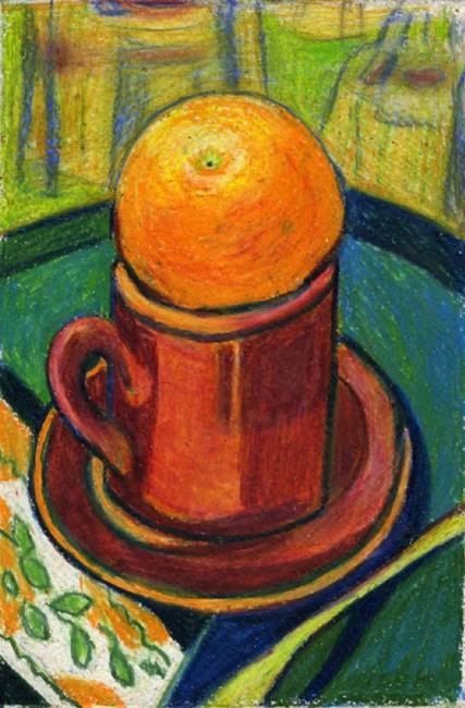 Art: Cafe Orange by Artist Jennifer Lommers