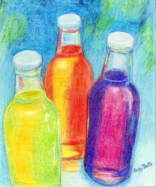 Art: 3 Bottles by Artist Ulrike 'Ricky' Martin