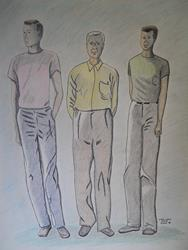 Art: Long Legs Colorized by Artist Dee Turner